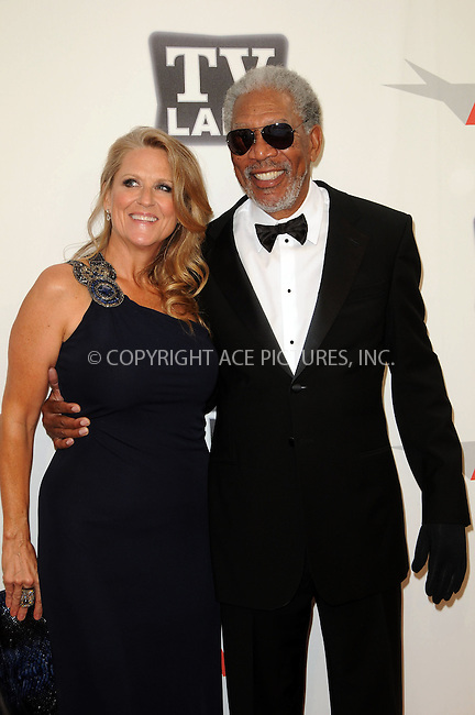 WWW.ACEPIXS.COM . . . . .  ....June 9 2011, Los Angeles....Lori McCreary and Morgan Freeman arriving at the 2011 AFI Lifetime Achievement Awards honoring Morgan Freeman held at Sony Picture Studios on June 9, 2011....Please byline: PETER WEST - ACE PICTURES.... *** ***..Ace Pictures, Inc:  ..Philip Vaughan (212) 243-8787 or (646) 679 0430..e-mail: info@acepixs.com..web: http://www.acepixs.com