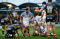Zach Mercer of Bath Rugby celebrates his try with team-mates. Gallagher Premiership match, between Worcester Warriors and Bath Rugby on January 5, 2019 at Sixways Stadium in Worcester, England. Photo by: Patrick Khachfe / Onside Images