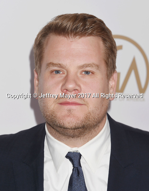 HOLLYWOOD, CA - JANUARY 28: TV personality-actor-singer James Corden arrives at the 28th Annual Producers Guild Awards at The Beverly Hilton Hotel on January 28, 2017 in Beverly Hills, California.