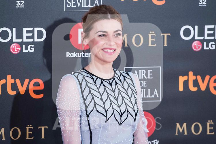 Marta Nieto attends red carpet of Goya Cinema Awards 2018 at Madrid Marriott Auditorium in Madrid , Spain. February 03, 2018. (ALTERPHOTOS/Borja B.Hojas)