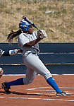 April 7, 2012:   San Jose State Spartans Markesha Collins at the plate against the Nevada Wolf Pack during their NCAA softball game played at Christina M. Hixson Softball Park on Saturday in Reno, Nevada.