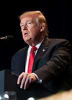 United States President Donald J. Trump makes remarks at the 2019 National Prayer Breakfast at the Washington Hilton Hotel in Washington, DC on Thursday, February 7, 2019.<br /> CAP/MPI/RS<br /> &copy;RS/MPI/Capital Pictures
