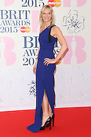 Jo Whiley arriving at The Brit Awards 2015 (Brits) held at the O2 - Arrivals, London. 25/02/2015 Picture by: James Smith / Featureflash