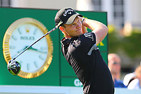 Danny Willett at the #1 tee during the BMW PGA Golf Championship at Wentworth Golf Course, Wentworth Drive, Virginia Water, England on 25 May 2017. Photo by Steve McCarthy/PRiME Media Images.