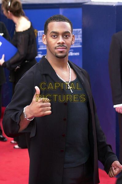 RICHARD BLACKWOOD.TV Bafta Awards.thumbs up.www.capitalpictures.com.sales@capitalpictures.com.© Capital Pictures...