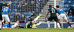 Richard Foster and Steve Simonsen tangle with Mark Stewart and the ball breaks for Christian Nade to score the winner