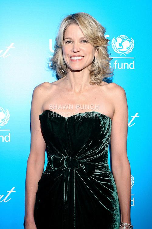 Jounalist Paula Zahn, arrives at the UNICEF Snowflake Ball, Presented by Baccarat, at Cipriani 42nd Street, November 30, 2010.