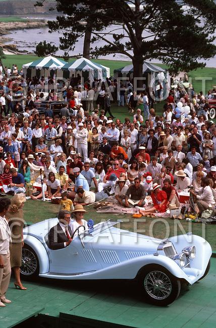August 26th, 1984. Antique Roadster German car.