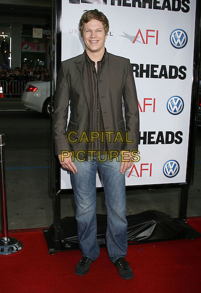 """LUKE FORD .""""Leatherheads"""" World Premiere held at Gruman's Chinese Theatre, Hollywood, California, USA,.31 March 2008..full length brown jacket jeans .CAP/ADM/RE.©Russ Elliot/Admedia/Capital PIctures"""
