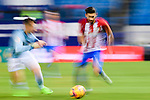 Yannick Ferreira Carrasco (r) of Atletico de Madrid in action during their La Liga match between Atletico de Madrid and RC Celta de Vigo at the Vicente Calderón Stadium on 12 February 2017 in Madrid, Spain. Photo by Diego Gonzalez Souto / Power Sport Images
