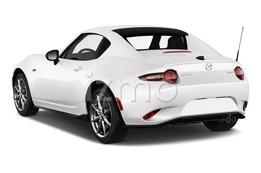 Car pictures of rear three quarter view of a 2019 Mazda MX-5 RF Club 2 Door Convertible angular rear