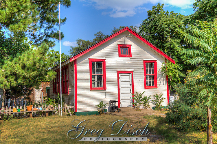 Restored one room school house just off Route 66 in Erick Oklahoma.