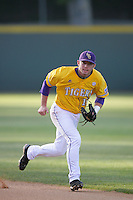 June 5, 2010: Tyler Hanover of LSU during NCAA Regional game against UCLA at Jackie Robinson Stadium in Los Angeles,CA.  Photo by Larry Goren/Four Seam Images