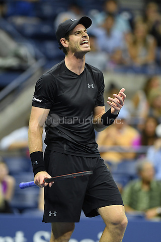 FLUSHING NY- AUGUST 30: Andy Murray Vs Lukas Rosol on Arthur Ashe Stadium at the USTA Billie Jean King National Tennis Center on August 30, 2016 in Flushing, Queens. Credit: mpi04/MediaPunch