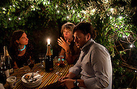Dinner in Octavia and Matthew's garden, London, England, 2011