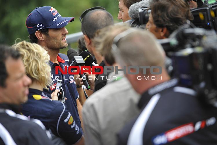 22.08 - 25.08.2013, Circuit de Spa, Francorchamps, BEL, F1, Grosser Preis von Belgien, im Bild  Mark Webber (AUS), Red Bull Racing <br />  Foto &copy; nph / Mathis