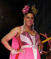 RIO DE JANEIRO, RJ, 22 DE FEVEREIRO 2012 - BAILE GALA GAY - A humorista Silvete Montila e vista chegando no tradicional Baile Gala Gay na regiao central do Rio de Janeiro, na noite de onte terca-feira, 21. (FOTO: WILLIAM VOLCOV - BRAZIL PHOTO PRESS).