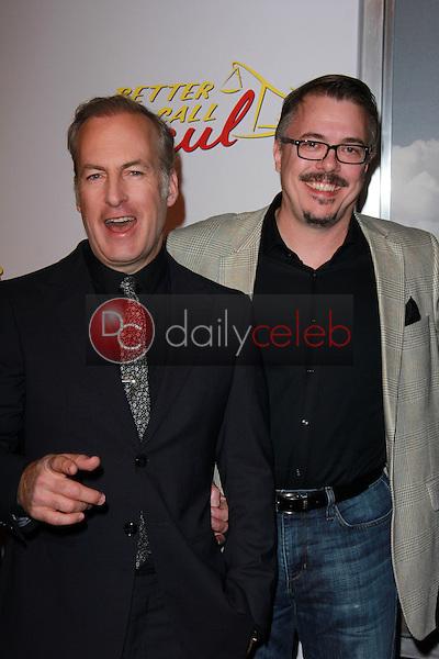 "Bob Odenkirk, Vince Gilligan<br /> at the ""Better Call Saul"" Series Premiere Screening, Regal Cinemas, Los Angeles, CA 01-29-15<br /> David Edwards/DailyCeleb.com 818-249-4998"