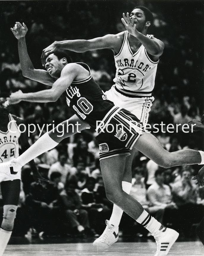 Golden State Warrior Joe Barry Carroll <br />(photo/Ron Riesterer/photoshelter)