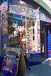 Person and storefront, Haight-Ashbury District, San Francisco, California