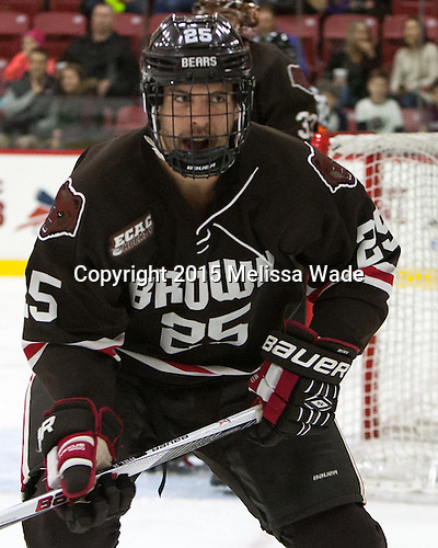 Brandon Pfeil (Brown - 25) - The Harvard University Crimson defeated the visiting Brown University Brown Bears 5-2 (EN) on Saturday, November 7, 2015, at Bright-Landry Center in Boston, Massachusetts.