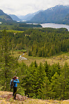 the view trail hike at the Strathcona Park Lodge.