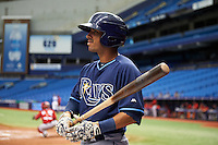 Tampa Bay Rays Peter Maris (58) during an instructional league game against the Boston Red Sox on September 24, 2015 at Tropicana Field in St Petersburg, Florida.  (Mike Janes/Four Seam Images)