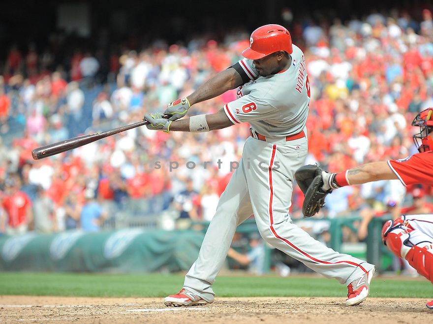 Philadelphia Phillies Ryan Howard (6) during a game against the Washington Nationals on August 3, 2014 at Nationals Park in Washington, DC. The Nationals beat the Phillies 4-0.