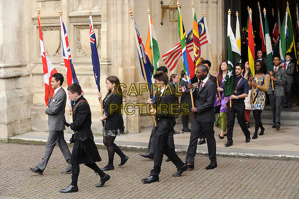 LONDON, ENGLAND - MARCH 10: Commonwealth Day Observance Service and Reception at Westminster Abbey on March 10, 2014 in London, England.<br /> CAP/BEL<br /> &copy;Tom Belcher/Capital Pictures