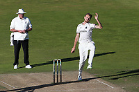 Oliver Hannon-Dalby in bowling action for Warwickshire during Warwickshire CCC vs Essex CCC, Specsavers County Championship Division 1 Cricket at Edgbaston Stadium on 11th September 2019