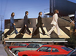 Billboard for the Beatles Abbey Road album  on the Sunset Strip in Los Angeles, California circa 1969