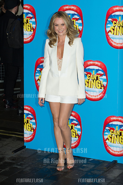 Amanda Holden arriving for the Press Night for I Can't Sing, at the London Palladium. 26/03/2014 Picture by: Dave Norton / Featureflash