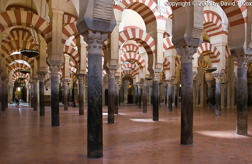 arches, Mezquita, Cordoba, Spain