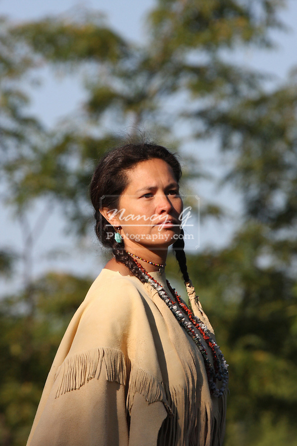 A Native American Indian woman