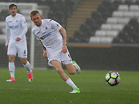 Pictured: Oliver McBurnie of Swansea City Monday 15 May 2017<br /> Re: Premier League Cup Final, Swansea City FC U23 v Reading U23 at the Liberty Stadium, Wales, UK