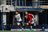 Son Heung-Min of Tottenham Hotspur gets away from Adam Smith of Bournemouth during the Premier League match between Tottenham Hotspur and Bournemouth at White Hart Lane, London, England on 15 April 2017. Photo by Mark  Hawkins / PRiME Media Images.