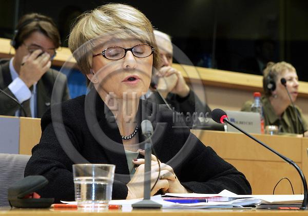 BRUSSELS - BELGIUM - 28 SEPTEMBER 2004 -- The EU-Parliament Hearing of EU-Commissioner Designate Danuta HÜBNER (Huebner) (Poland) responsible for Regional Policy.-- PHOTO: JUHA ROININEN / EUP-IMAGES