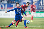 Guangzhou Midfielder Zheng Zhi (R) fights for the ball with Suwon Midfielder Lee Yongrae (L) during the AFC Champions League 2017 Group G match Between Suwon Samsung Bluewings (KOR) vs Guangzhou Evergrande FC (CHN) at the Suwon World Cup Stadium on 01 March 2017 in Suwon, South Korea. Photo by Victor Fraile / Power Sport Images