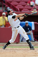 Designated hitter Kyle Convissar (22) of the Maryland Terrapins in an NCAA Division I Baseball Regional Tournament game against the Old Dominion Monarchs on Friday, May 30, 2014, at Carolina Stadium in Columbia, South Carolina. Maryland won, 4-3. (Tom Priddy/Four Seam Images)