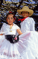 mexican Flamingo dance in traditional costume in Santa Barbera California, USA