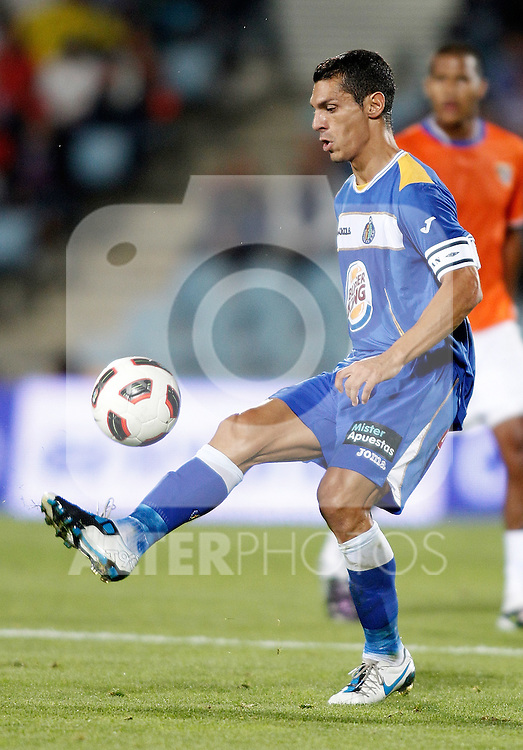 Getafe's Javier Casquero during La liga match. September 23, 2010. (ALTERPHOTOS/Alvaro Hernandez).