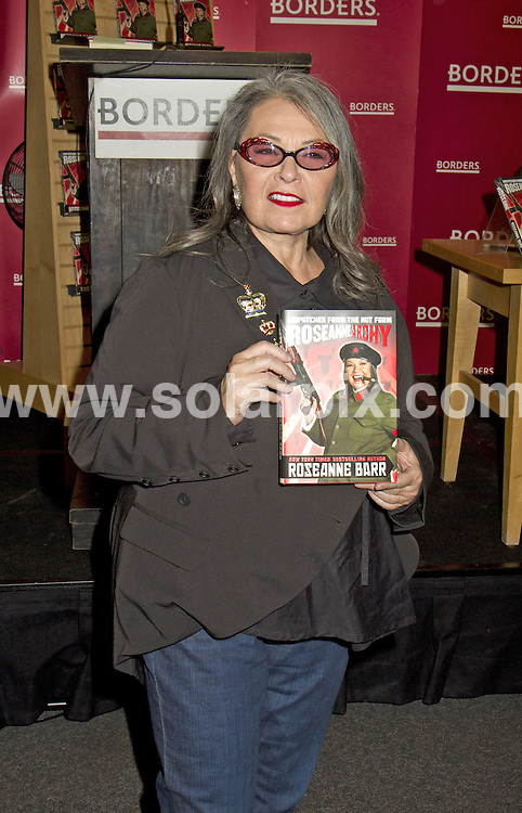 **ALL ROUND PICTURES FROM SOLARPIX.COM**                                             **SYNDICATION RIGHTS FOR UK, AUSTRALIA, DENMARK, PORTUGAL, S. AFRICA, SPAIN & DUBAI (U.A.E) & ASIA (EXCLUDING JAPAN) ONLY**                                                                                  Caption: Roseanne Barr signing session for her new book - Roseannearchy: Dispatches from the Nut Farm - at Borders in New York City, USA. 6 January 2011                                                                          This pic: Roseanne Barr                                                                                           JOB REF: 12637 PHZ Mayer     DATE: 06_01_2011                                                           **MUST CREDIT SOLARPIX.COM OR DOUBLE FEE WILL BE CHARGED**                                                                      **MUST AGREE FEE BEFORE ONLINE USAGE**                               **CALL US ON: +34 952 811 768 or LOW RATE FROM UK 0844 617 7637**