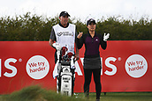 28th September 2017, Windross Farm, Auckland, New Zealand; LPGA McKayson NZ Womens Open, first round;  USA's Danielle Kang and New Zealand caddie Steve Williams