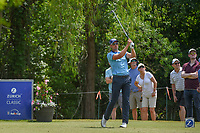 Henrik Stenson (SWE) watches his tee shot on 14 during Round 3 of the Zurich Classic of New Orl, TPC Louisiana, Avondale, Louisiana, USA. 4/28/2018.<br /> Picture: Golffile | Ken Murray<br /> <br /> <br /> All photo usage must carry mandatory copyright credit (&copy; Golffile | Ken Murray)