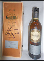 BNPS.co.uk (01202 558833)<br /> Pic: ChaucerAuctions/BNPS<br /> <br /> ***Please Use Full Byline***<br /> <br /> FYI: 1976 Concorde Glenfiddich Whisky Bottle 7. A single cask bottling of 1976 vintage Glenfiddich. This was the second private vintage to be released by the distillery and was bottled exclusively for Concorde flights in 2002, just a year before the fleet was retired. The case is signed by Mike Banister and indeed the winning bidder could also have the bottle itself personally autographed.<br /> <br /> Legendary airline pilot Mike Bannister is selling 100,000 pounds worth of his Concorde memorabilia so he can fund his daughter through flying school.<br /> <br /> Amy Bannister, 20, is hoping to following in her father's jet-stream to become a commercial airline pilot and is currently at a flight training school in Spain.<br /> <br /> The prestigious course is costing her a six figure sum.<br /> <br /> Her father Mike, 65, didn't want her burdened with debt at the start of her career and so stripped his study of Concorde relics, including cockpit instruments, and has put them up for sale at auction.