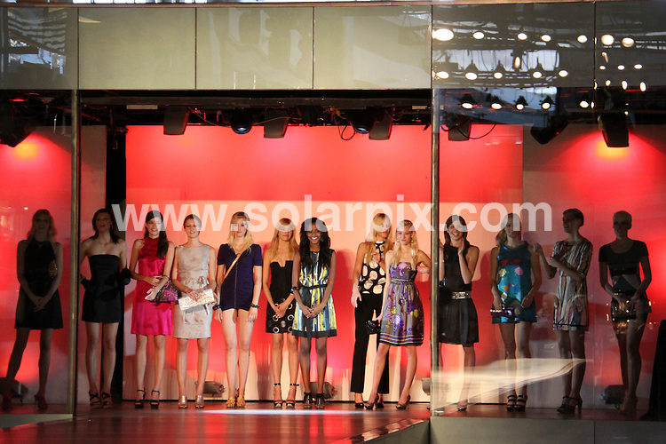 """**ALL ROUND PICTURES FROM SOLARPIX.COM**.**SYNDICATION RIGHTS FOR UK, AUSTRALIA, DENMARK, PORTUGAL, S. AFRICA, SPAIN & DUBAI (U.A.E) ONLY**.Heidi Klum tapes """"Germany's Next Top Model"""" at the Fashion Show Mall in Las Vegas, Nevada, USA. January 24, 2009..This pic: contestants..JOB REF: 8317 PHZ (PRN)   DATE: 24_01_2009.**MUST CREDIT SOLARPIX.COM OR DOUBLE FEE WILL BE CHARGED* *UNDER NO CIRCUMSTANCES IS THIS IMAGE TO BE REPRODUCED FOR ANY ONLINE EDITION WITHOUT PRIOR PERMISSION*"""