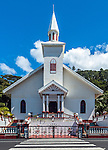 Church of Pueu on Tahiti iti, French Polynesia