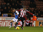 Leon Clarke of Sheffield Utd during the English League One match at Bramall Lane Stadium, Sheffield. Picture date: November 29th, 2016. Pic Simon Bellis/Sportimage