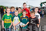 Ryan O'Connell, Cillian O'Neill, Darragh Quirke and Colin Spillane.Back l-r Thomas O'Donnell, Kian Cronin and Paul Egan. at the Kerry GAA Night at Dogs Race of Champions at the Kingdom Greyhound Stadium on Friday