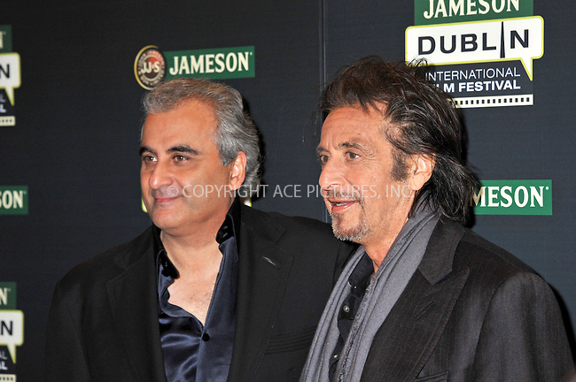 WWW.ACEPIXS.COM . . . . .  ..... . . . . US SALES ONLY . . . . .....February 20 2012, Dublin....Barry Navidi and Al Pacino at a screening of 'Wilde Salome' during the Dublin International Film Festival on February 20 2012 in Ireland....Please byline: FAMOUS-ACE PICTURES... . . . .  ....Ace Pictures, Inc:  ..Tel: (212) 243-8787..e-mail: info@acepixs.com..web: http://www.acepixs.com